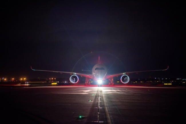 Llegada del Airbus A350XWB de Delta en Atlanta, Estados Unidos.