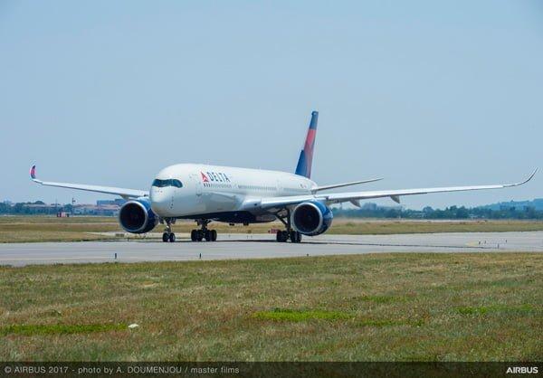 Airbus A350-900 de Delta Air Lines en Toulouse.