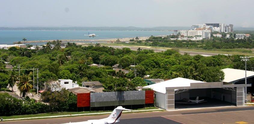 Pista del Aeropuerto Rafael Núñez de Cartagena de Indias.