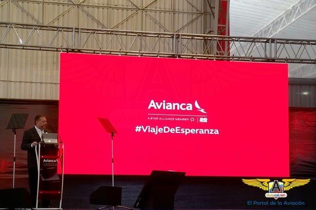 Evento de Avianca para la visita del Papa Francisco a Colombia.