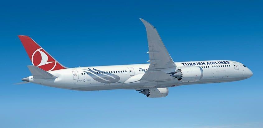 Render de un Boeing 787-9 de Turkish Airlines.
