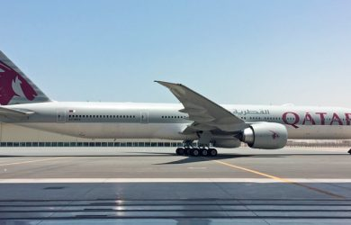 Boeing 777-300ER de Qatar Airways equipado con GX Aviation.