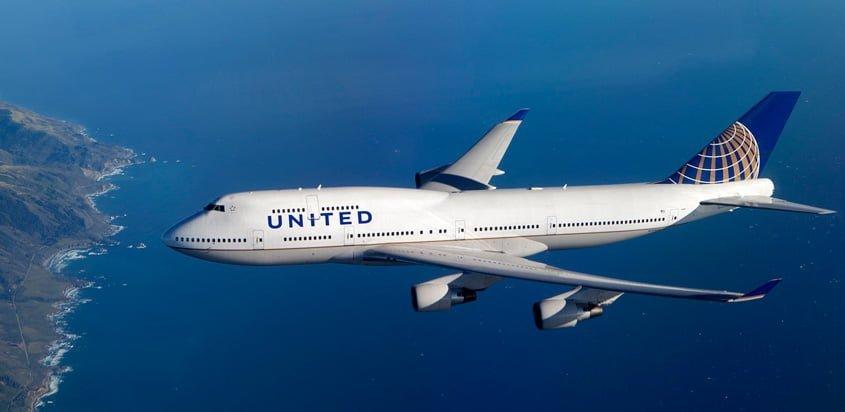 Boeing 747-400 de United Airlines.