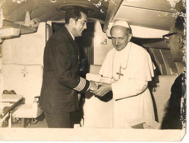 Capitán Carlos Santos, vuelo de regreso a Roma