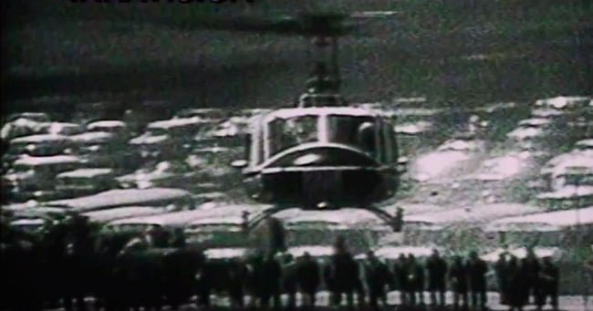 Llegada del Papa Pablo VI alCampo San José en Mosquera.