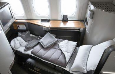 Línea de ropa para vuelos de American Airlines.