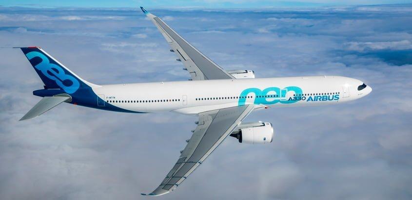 Airbus A330neo -900 en su primer vuelo.