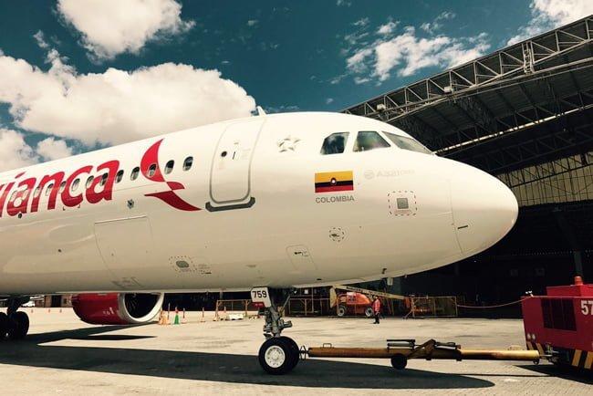 Airbus A321neo de Avianca en Bogotá.