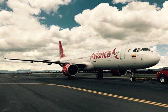 Airbus A321neo de Avianca en Push-back.