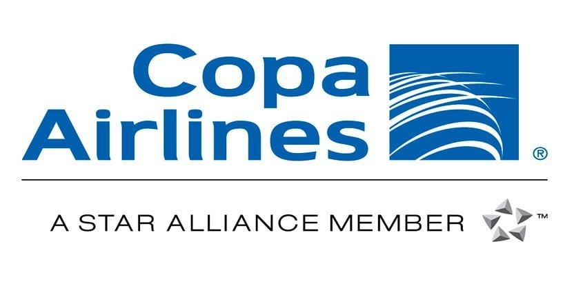 Logo de Copa Airlines, miembro de Star Alliance.
