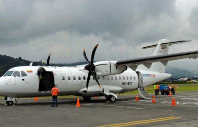 ATR 72-500 de EasyFly en el Aeropuerto La Nubia de Manizales.