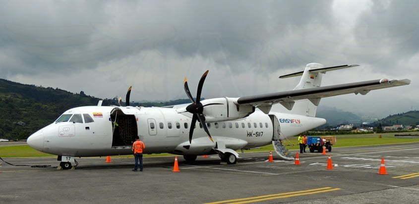 ATR 42-500 de EasyFly en Manizales.