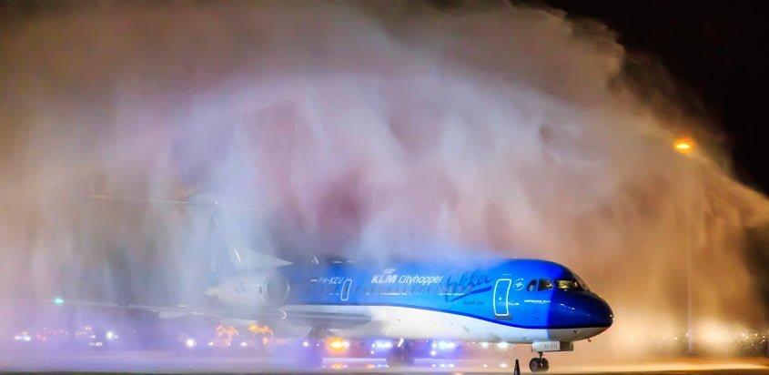 Despedida al Fokker 70 de KLM.