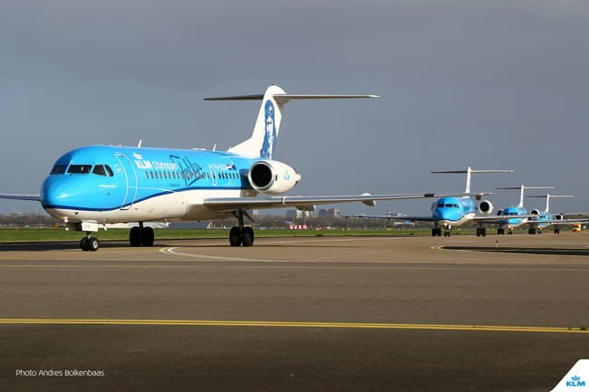 Últimos Fokker 70 de KLM en Ámsterdam.