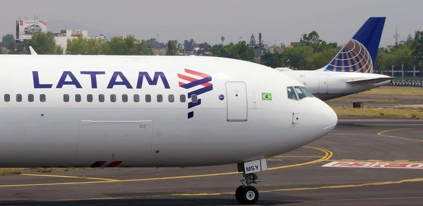Boeing 767-300ER de LATAM Airlines en Ciudad de México.