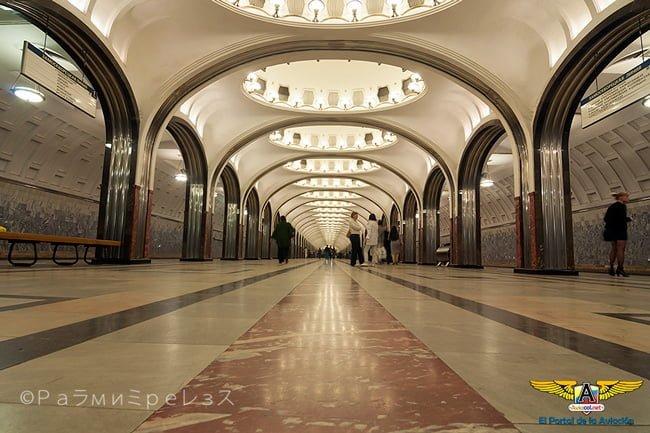 Estación del Metro de Moscú, Rusia.