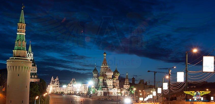 Plaza Roja de Moscú con la Catedral de San Basilio al fondo.