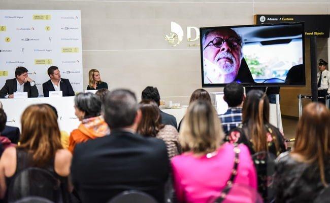 """Rueda Prensa para la presentación de la obra de Botero: """"Los músicos""""."""