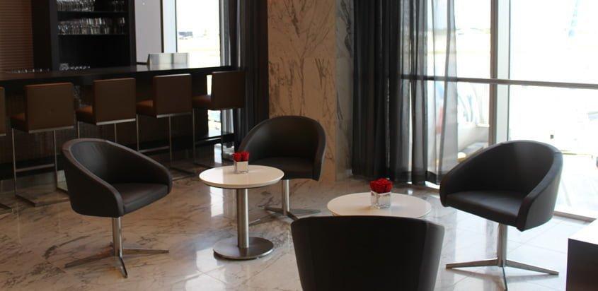 Flagship Lounge de American Airlines en Miami.