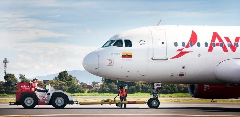 Airbus A319 de Avianca en Pushback.