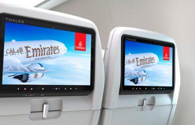 GX Aviation en un render de un Boeing 777X de Emirates.