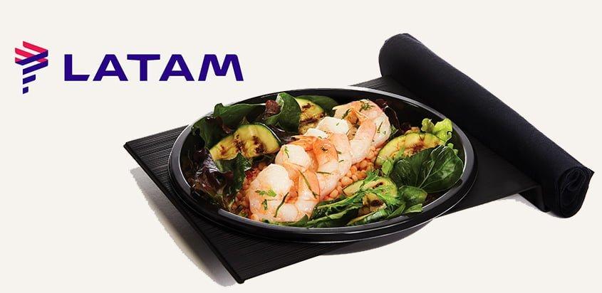 Nuevo concepto de Menú en Economy de LATAM Airlines.