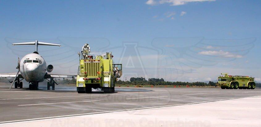 Máquinas de Bomberos del Aeropuerto Internacional Eldorado de Bogotá.