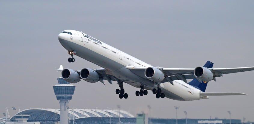 Airbus A340-600 de Lufthansa.