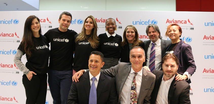 Alianza de Avianca y UNICEF.
