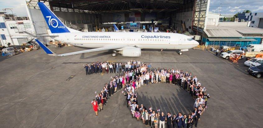 Boeing 737-700 de Copa Airlines en el aniversario No. 70 de la aerolínea.