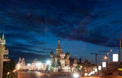 La Plaza Roja de Moscú con la Catedral de San Basilio.