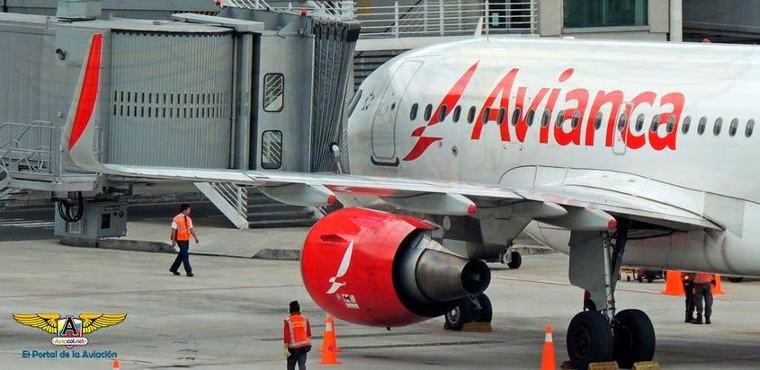 Airbus A320 de Avianca en el Aeropuerto Internacional Eldorado de Bogotá.