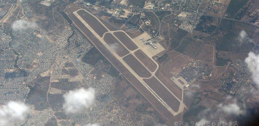 Vista aérea del Aeropuerto Internacional Ernesto Cortissoz de Barranquilla.