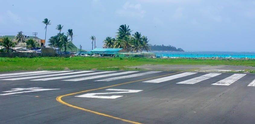 Cabecera 24 del Aeropuerto Gustavo Rojas Pinilla de San Andrés.