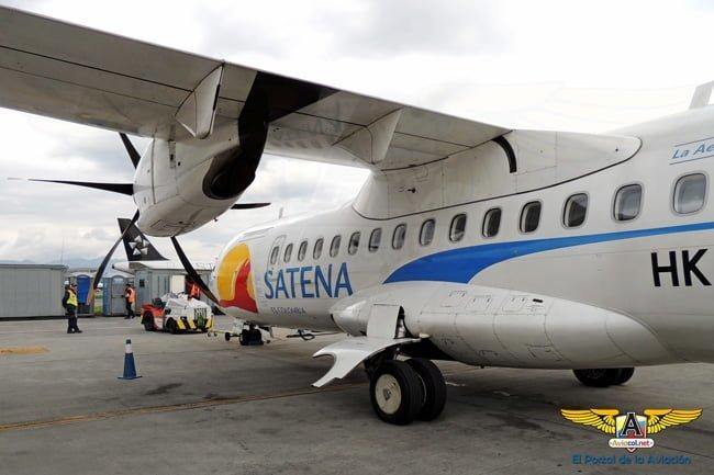 ATR 42-600 (HK-5129) de SATENA que nos llevaría a San Vicente del Caguán.