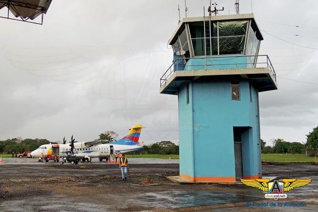 ATR 42-600 (HK-5129) de SATENA en el Aeropuerto Eduardo Falla de San Vicente del Caguán.