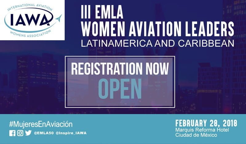 Registro para el III Encuentro de Mujeres Líderes en Aviación.