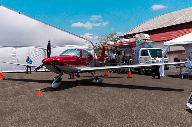 Plataforma del Aero Expo Panamá 2018.