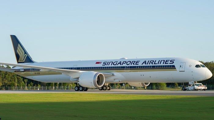 Primer Boeing 787-10 para Singapore Airlines en Charleston, Carolina del Sur.