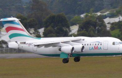 AvRo RJ-85 de LAMIA como el accidentado.
