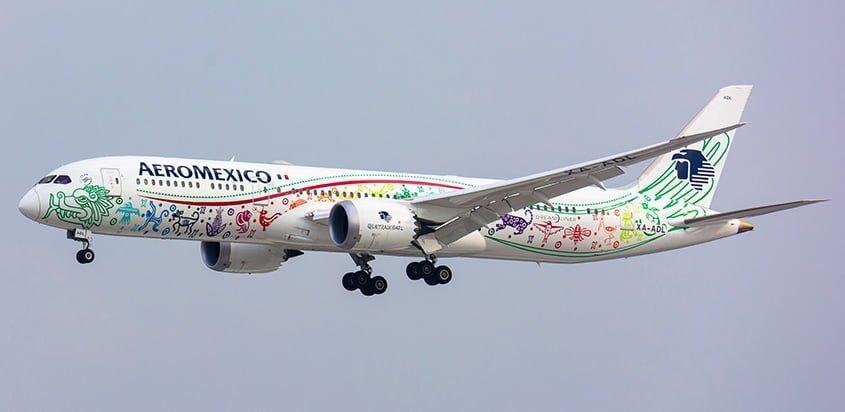 Boeing 787-9 Quetalcóatl de Aeroméxico.