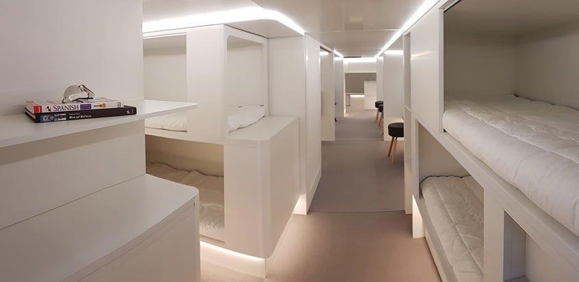 Airbus y Zodiac diseñan nuevos espacios para los pasajeros.