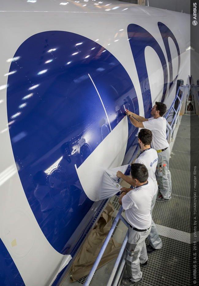 Centro de Pintura de Airbus en Toulouse, Francia.