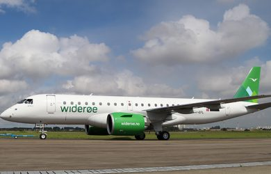 Primer Embraer E190-E2 de Widerøe.