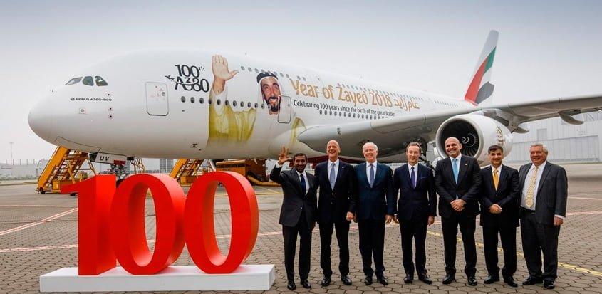 Airbus A380 de Emirates.
