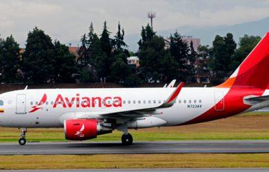 Airbus A319 de Avianca como el que volará a Chicago.