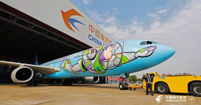Airbus A330 de China Eastern con livery de Toy Story.