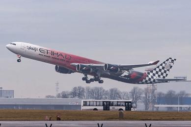 Airbus A340 Etihad Formula Uno