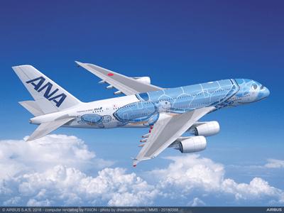 Airbus A380 ANA Flying Honu