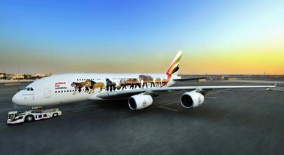 Airbus A380 Emirates United Wildlife